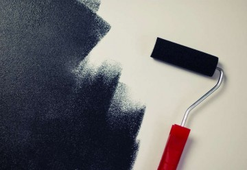 painting-black-paint-roller